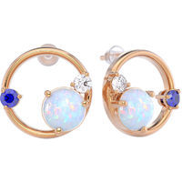 Earrings with opal, gold 375